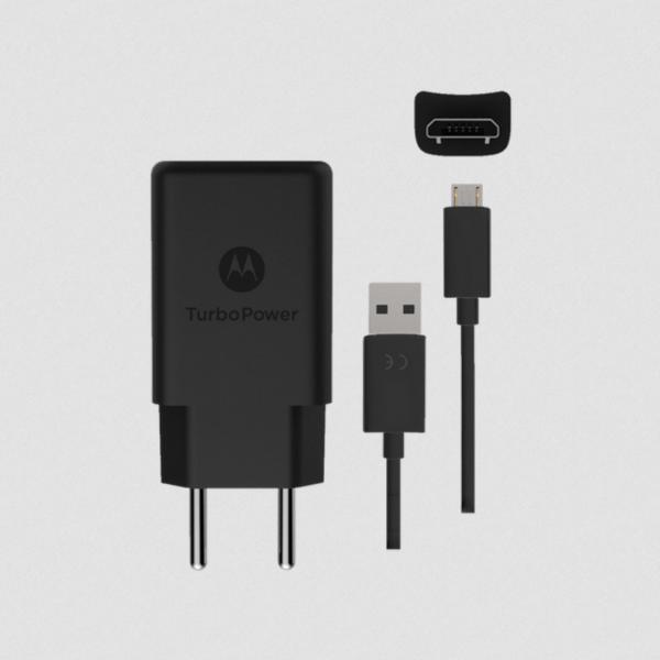 Carregador TurboPower Motorola 15W - Micro USB Preto