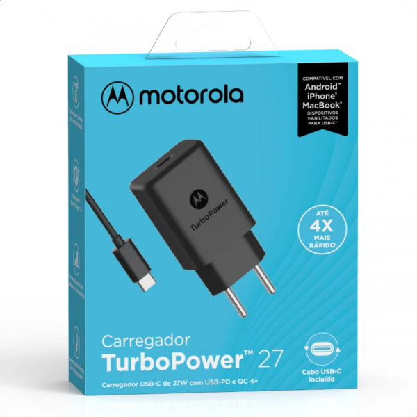 Carregador Motorola TurboPower 27W TYPE-C
