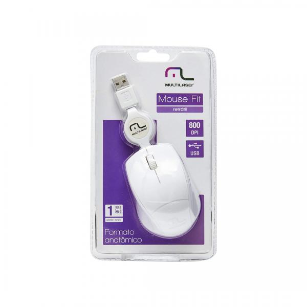 Mouse Multilaser Retrátil MO155