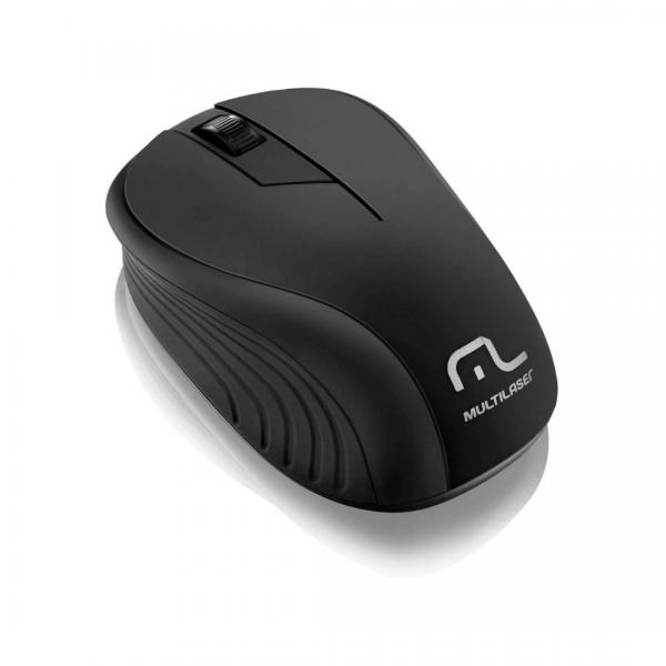 Mouse Multilaser Sem fio Preto MO212