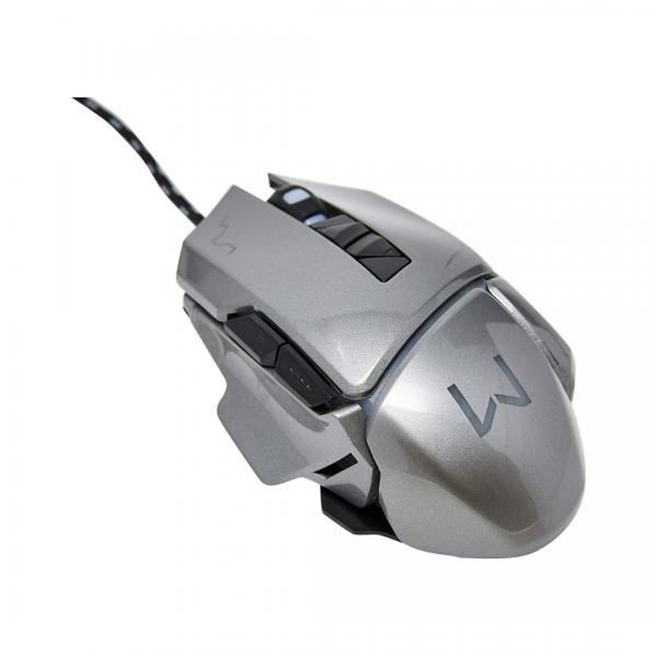 Mouse Multilaser Gamer Cinza Warrior MO262