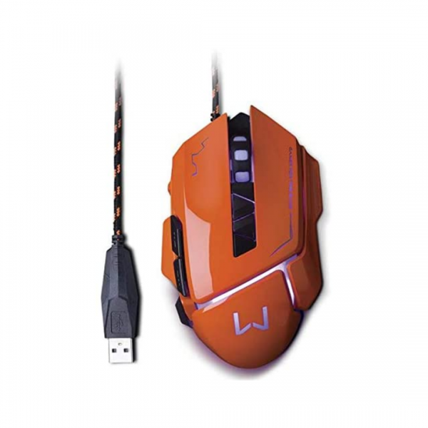 Mouse Multilaser Gamer Laranja MO263