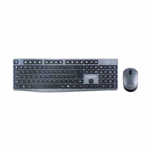 Teclado e mouse Multilaser sem fio TC245