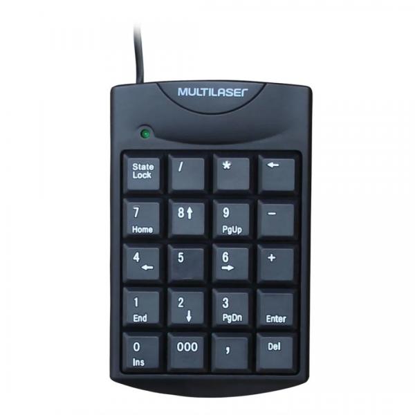 Teclado Numérico Multilaser Com Fio USB Preto - TC229
