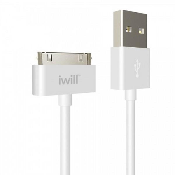 Cabo de Dados IPhone 4 Branco Iwill